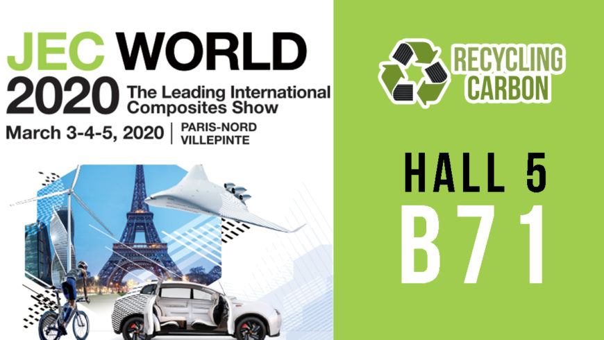 Recycling Carbon participera au salon JEC World 2020